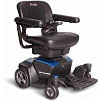 Pride Mobility Go-chair Portable Power Wheelchair, Sapphire Blue, 66 lb