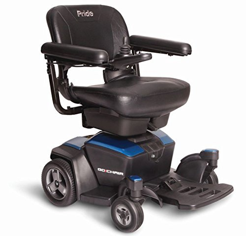 Pride Go-Chair Travel Power Wheelchair, Blue
