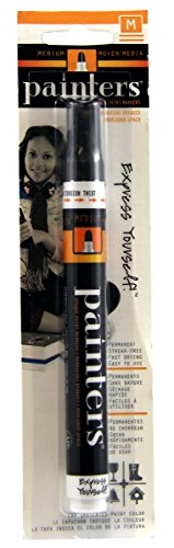 Elmer's Painters Opaque Paint Marker, Medium Point, Black, 1 Count