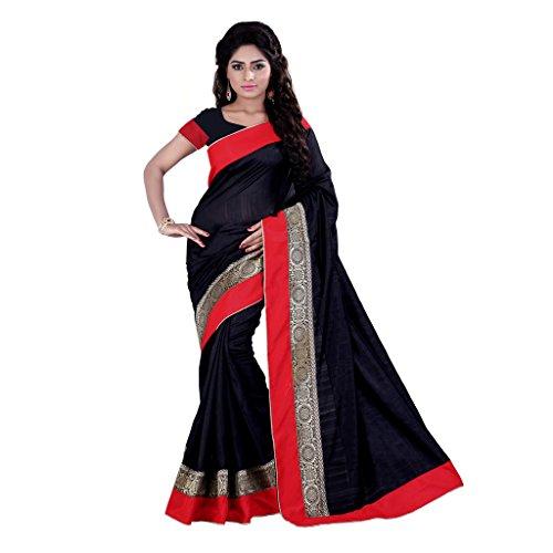 Sarvagny Clothing Black Banarasi Silk Fashion Saree