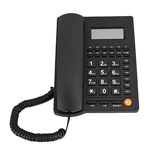 Business Office Landline Telephone, Ergonomic Design, Business Corded Telephone, Noise Cancelling, for Home, Hotel, Business, Office from Hakeeta