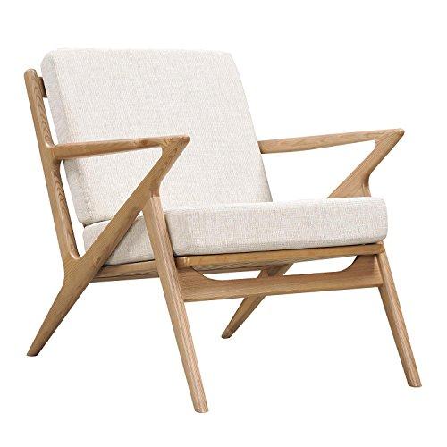 NyeKoncept Oatmeal Gray Zain Chair, Natural from NyeKoncept