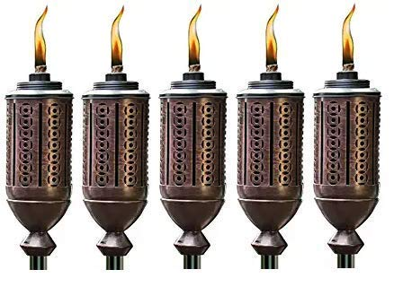 (Tiki Brand 65-Inch Cabos Metal Torch, Copper (Pack of 5))