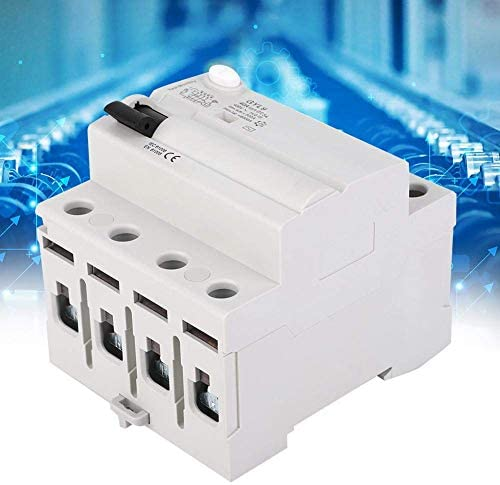 WXQ-XQ 残留電流ブレーカー、GYL9 40分の25 / 63A 4P 400V AC RCCB残留電流高性能サーキットブレーカー漏れプロテクター(40A) 遮断器