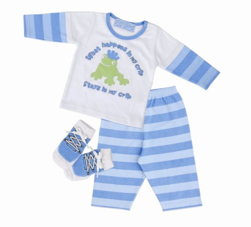 Mud Pie Baby Little Prince Stays in the Crib Playset