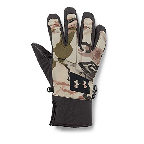 Under Armour Men's Mid Season Windstopper Gloves, UA Barren Camo (999)/Black, - Hunting Gloves Armour Under