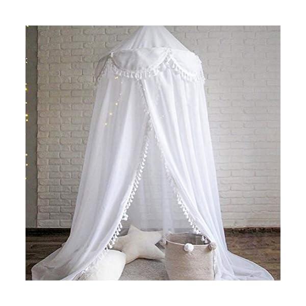 ZXYSR Zanzariera A Baldacchino per Letto, Zanzariera A Tenda Protettiva Letto, Mosquito Net for Bed Canopy per Culla… 4 spesavip