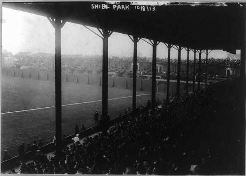 HistoricalFindings Photo: Baseball Park,Shibe Park,Philadelphia,PA,Interior from bleachers,crowd,c1913