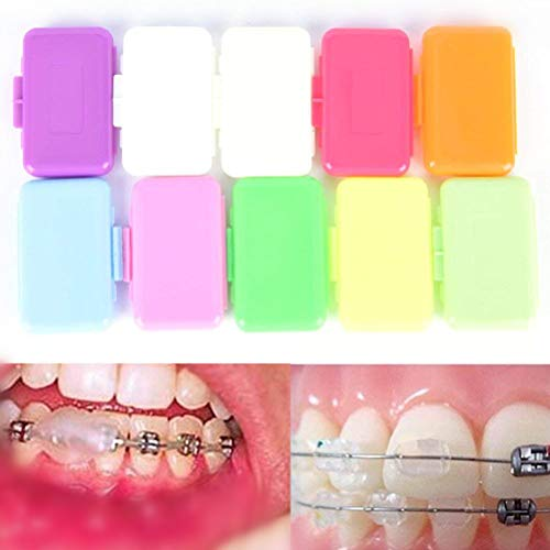 - HappyShip 12 PCS Dental Oral Care Orthodontic Wax for Braces Gum Irritation