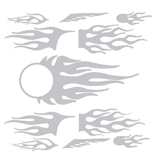 hBARSCI Flames Vinyl Decals - 11