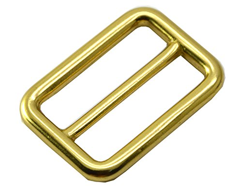 Buckle Seal (Okones Pack of 6 Pcs,1-1/4''(32mm) Solid Brass Precision Casting Rectangle Buckle Loop Belt Ring Strap Keeper for Backpack Bag Accessories (Insides 1-1/4'' Precision))