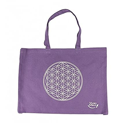 Bolsa de algodón orgánico con flor de vida - para yoga, para ...