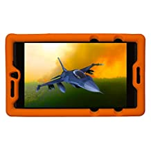 Bobj Rugged Case for NVIDIA Shield Tablet K1 - BobjGear Custom Fit - Patented Venting - Sound Amplification - BobjBounces Kid Friendly (Outrageous Orange)