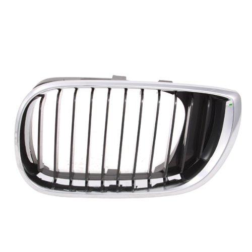 CarPartsDepot, Front Driver Side Chrome Outer Frame Grille Black Inner Insert LH, 400-121001-01 BM1200126 51137030545