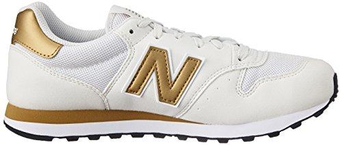 Nouvel Équilibre Damen 500 Chaussures De Sport Mehrfarbig (blanc / Or)