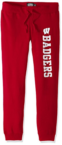 Wisconsin Badgers Fleece - OTS NCAA Wisconsin Badgers Women's Fleece Pants, Small, Red
