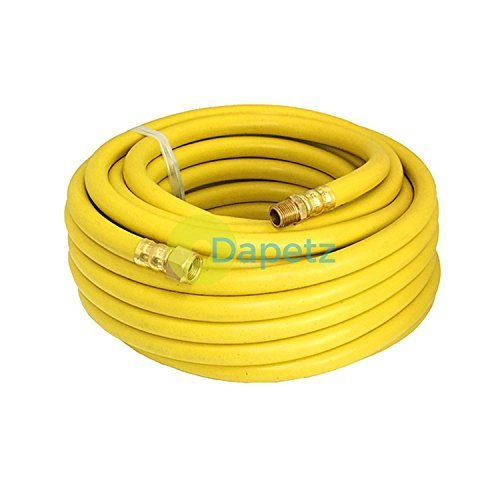 Daptez ® Airline Air Hose High Vis Soft Rubber 8mm 15M 50Ft Compressor Hose 3/8' Dapetz