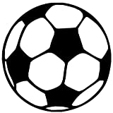 "Soccer Ball - Vinyl Decal Sticker - 5"" x 5"" Futbol FIFA Football Pitch"