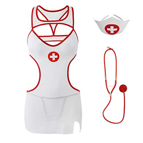 Eromate Sexy Nurse Costume For Women Cosplay Dress Lingerie Outfit Plus Size -