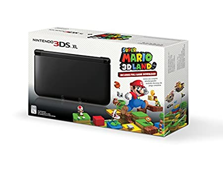 Black Nintendo 3DS XL with Pre-installed Super Mario 3D Land Game