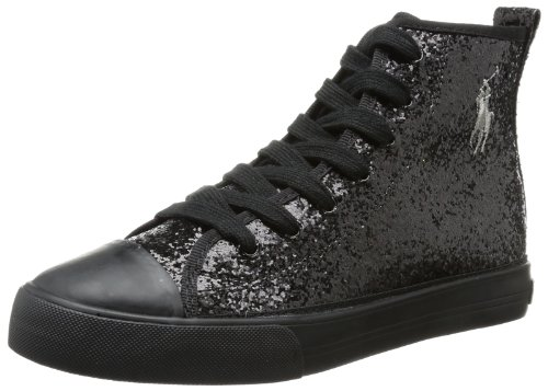 Polo Ralph Lauren Kids Sag Harbour Hi Lace-Up Sneaker ,Black