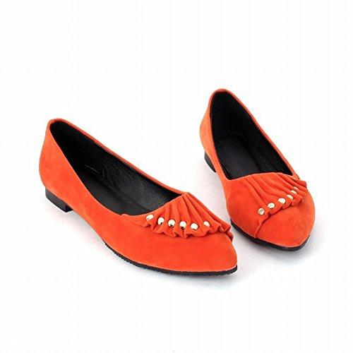Latasa Damesmode Kralen Puntschoen Schoenen, Pumps Schoenen Oranje