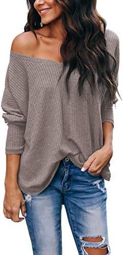 iGENJUN Off Shoulder Batwing Pullover Sweater product image