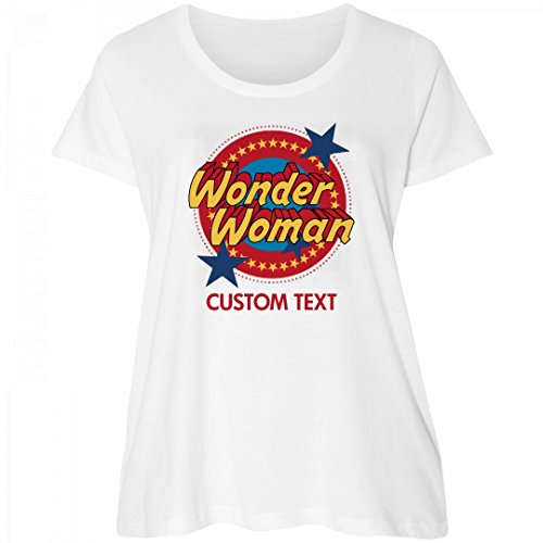 Wonder+Woman+Shirts Products : Custom Wonder Woman Emblem Plus Tee: Women's Curvy Plus Size Scoopneck T-Shirt