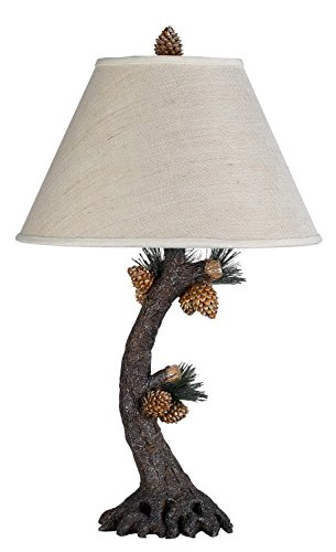 Cal Lighting BO-261 Pinecone Table Lamp Fixture in Evergreen (Fixtures Pinecone Light)