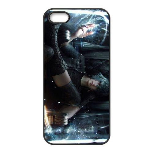 Noctis Lucis Caelum J6M14 Final Fantasy N4M5TM coque iPhone 5 5s cellule de cas de téléphone couvercle coque noire KR7CTR8ZC