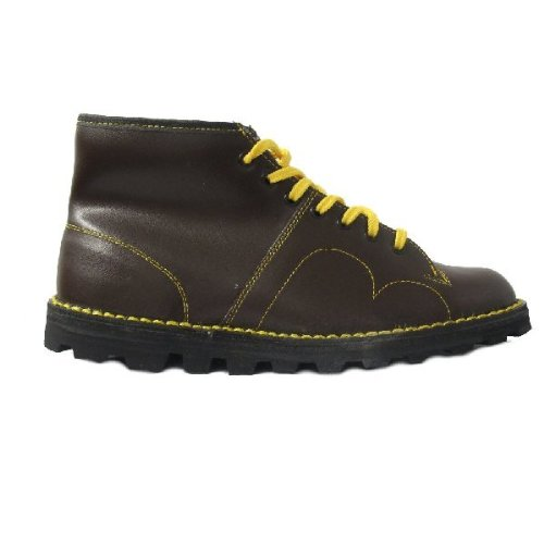 New Original 60's Grafters Men's Leather Monkey Mod Boots In Wine Sizes 8-12 6whj9lSxq9