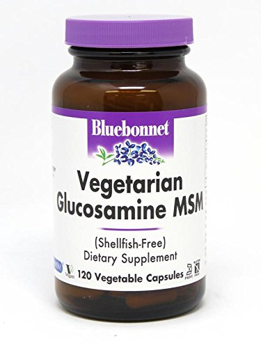 BlueBonnet Vegetarian Glucosamine Plus MSM Supplement, 120 Count