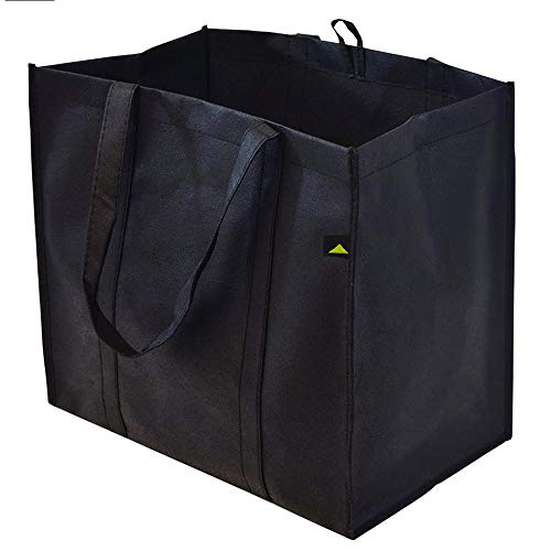 15x9.5x13 Extra Large & Super Strong Reusable Grocery Bags, Heavy Duty Shopping Bags, Foldable Collapsible Reusable Bags - Pack Of 5