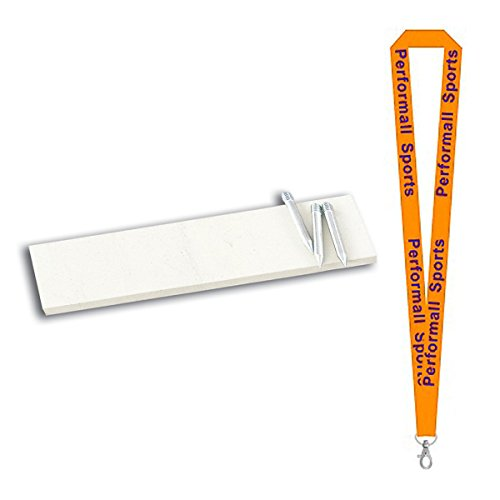 Champion Sports Youth Pitcher's Plate White Bundle with 1 Performall Lanyard 70-1P by Champion Sports