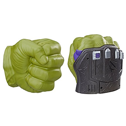 Avengers Marvel Thor: Ragnarok Hulk Smash FX Fists – Motion Activated Sounds, Smash Into Action Like The Hulk – For Ages 5 Plus -