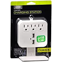 Living Solutions Charging Station with 2 USB Ports