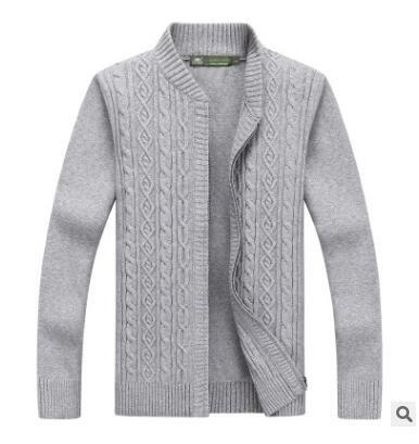 Langmotai Pullover Long-Sleeved Blume Stehkragen Pullover Slim Männer Zipper Shirt Herbst und Winter& 039;s Männer Offener Kragen