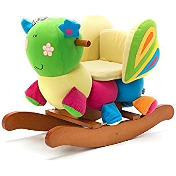 Labebe Wooden Baby Rocking Horse Ride-on Toys - Butterfly