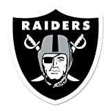 Oakland Raiders Logo on the GoGo Car Grill Emblem - Approx 5''x7''