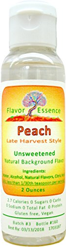PEACH -Late-Harvest Style by Flavor Essence (Unsweetened Natural Background Flavoring) 2 Oz