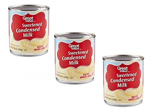 Pack Condensed Value (Great Value Sweetened Condensed Milk, 14 oz (3 Pack))