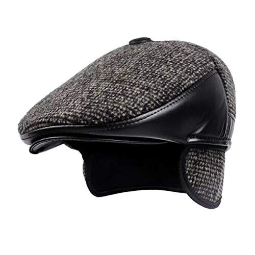 FENICAL Newsboy Cap Winter Retro Boinas Gorras con orejeras orejeras para  hombres (Caqui) 219242ec2f0