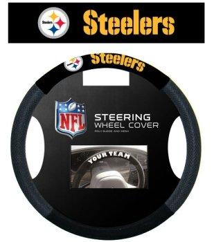 Fremont Die Pittsburgh Steelers Mesh Steering Wheel Cover by Fremont Die