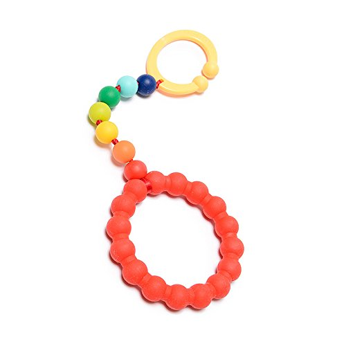 CB GO by Chewbeads Gramercy Stroller Toy, 100% Safe Silicone - Rainbow