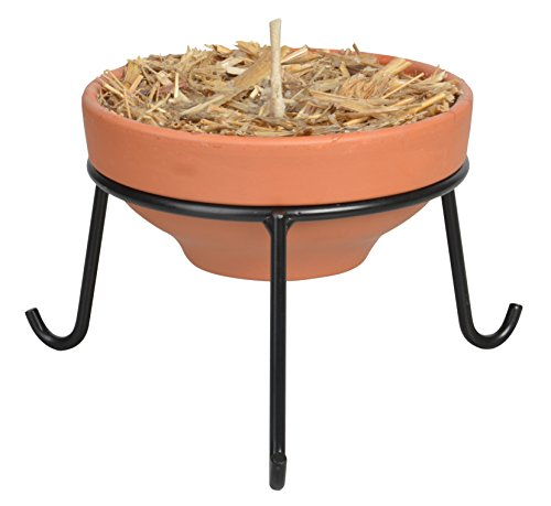 "Esschert Design FF167 Stand for Low Firepot (FF124) - Metal low stand for Firepot #FF127 Size in Height: 8.4"" Size in Width: 7.9"" - patio, fire-pits-outdoor-fireplaces, outdoor-decor - 41Ewzstdv%2BL -"