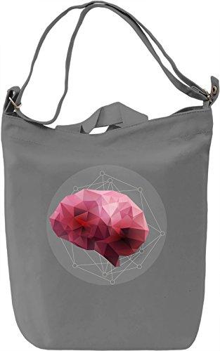 Low poly brain Borsa Giornaliera Canvas Canvas Day Bag| 100% Premium Cotton Canvas| DTG Printing|