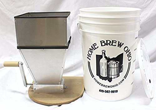 Home Brew Ohio Barley Crusher 15 Lb. Hopper Including Bucket by Home Brew Ohio (Image #1)