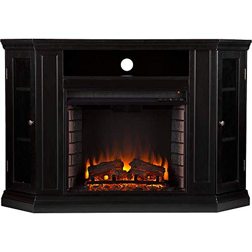 Cheap Claremont Convertible Media Electric Fireplace - Black Black Friday & Cyber Monday 2019
