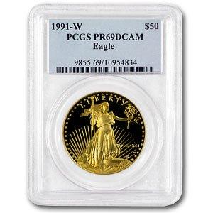 1991 W 1 oz Proof Gold American Eagle PR-69 PCGS 1 OZ PR-69 PCGS