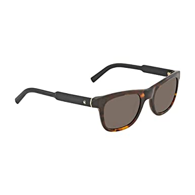 35f58e8cc737 Image Unavailable. Image not available for. Color  Sunglasses Montblanc MB  652 S 52E dark havana   brown